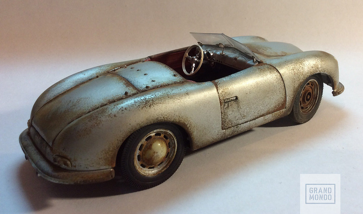 Abandoned porsche 356 on behance and built three type 64 cars for a 1939 berlin to rome race that was cancelled in 1948 the mid engine tubular chassis 356 prototype called no 1 vanachro Choice Image