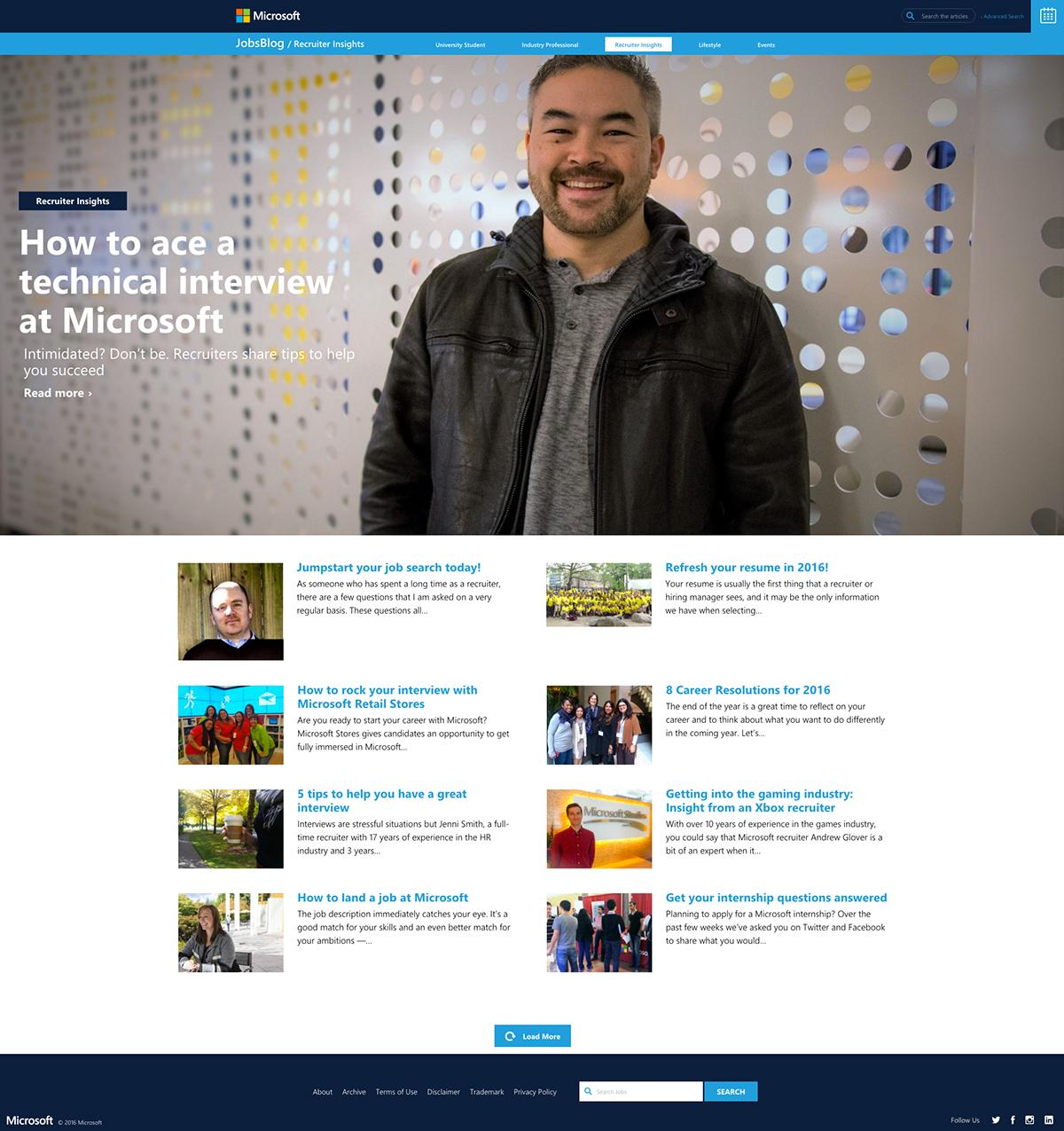 microsoft job blog on behance