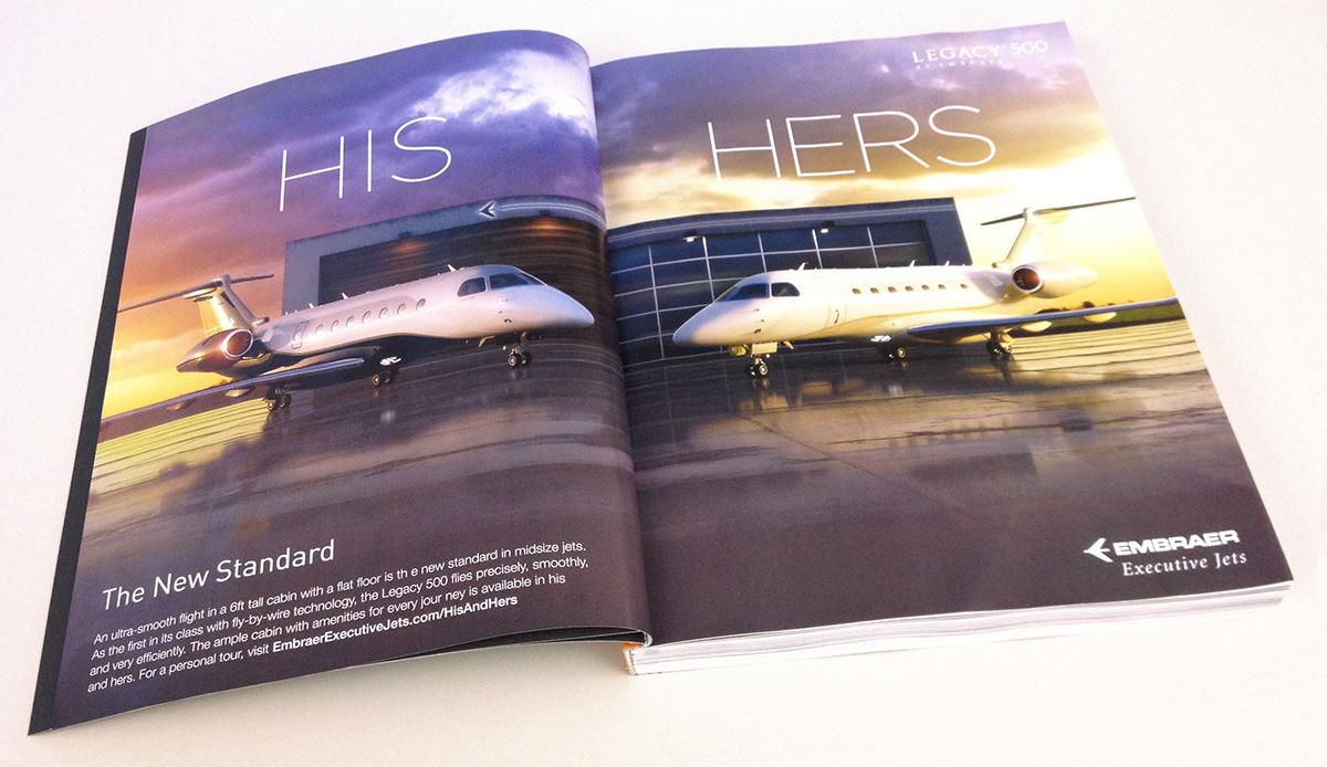 Embraer,Legacy 500,luxury,Magazine Ad