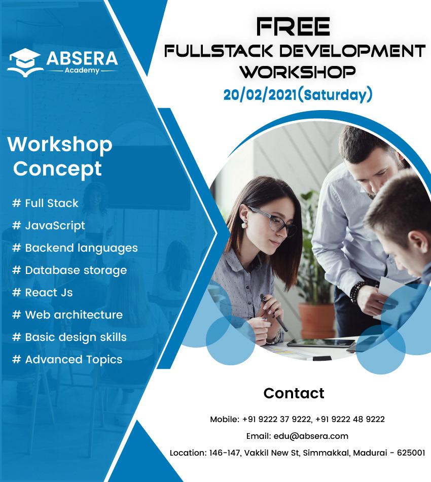 AbseraAcademy fullstackwebdevelopment IT softwaretraining Workshop