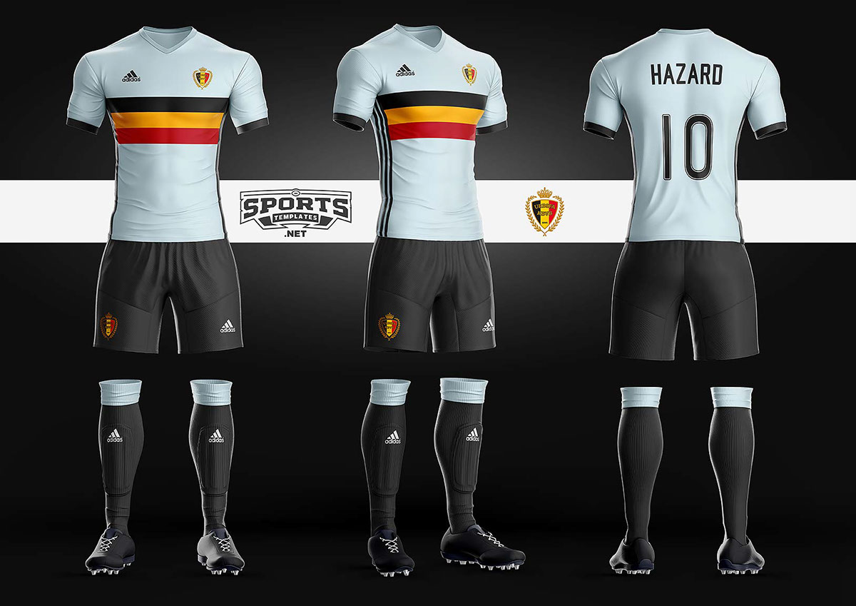 Goal Soccer Kit Uniform Template On Wacom Gallery