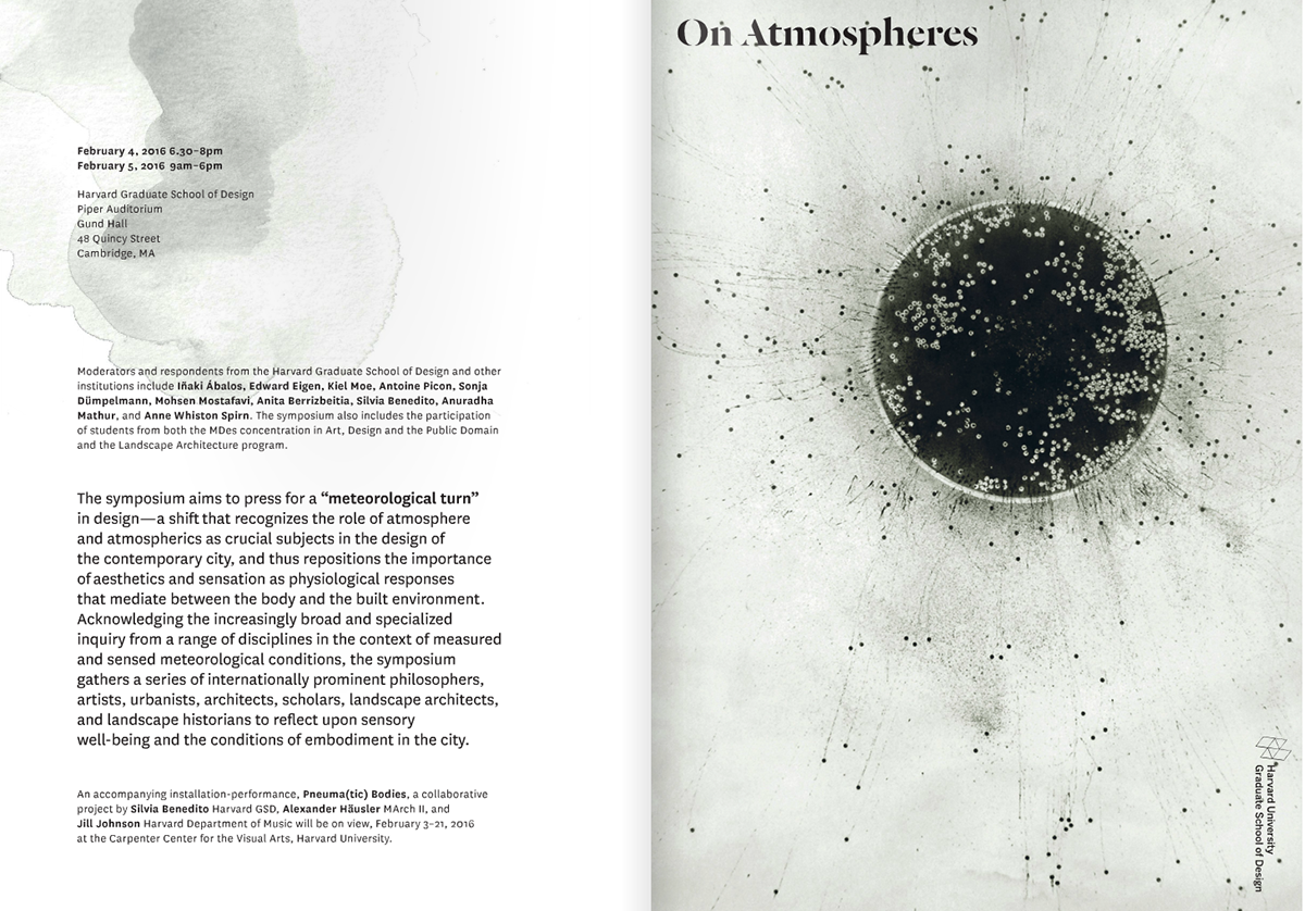On Atmospheres   Harvard Graduate School of Design on Behance
