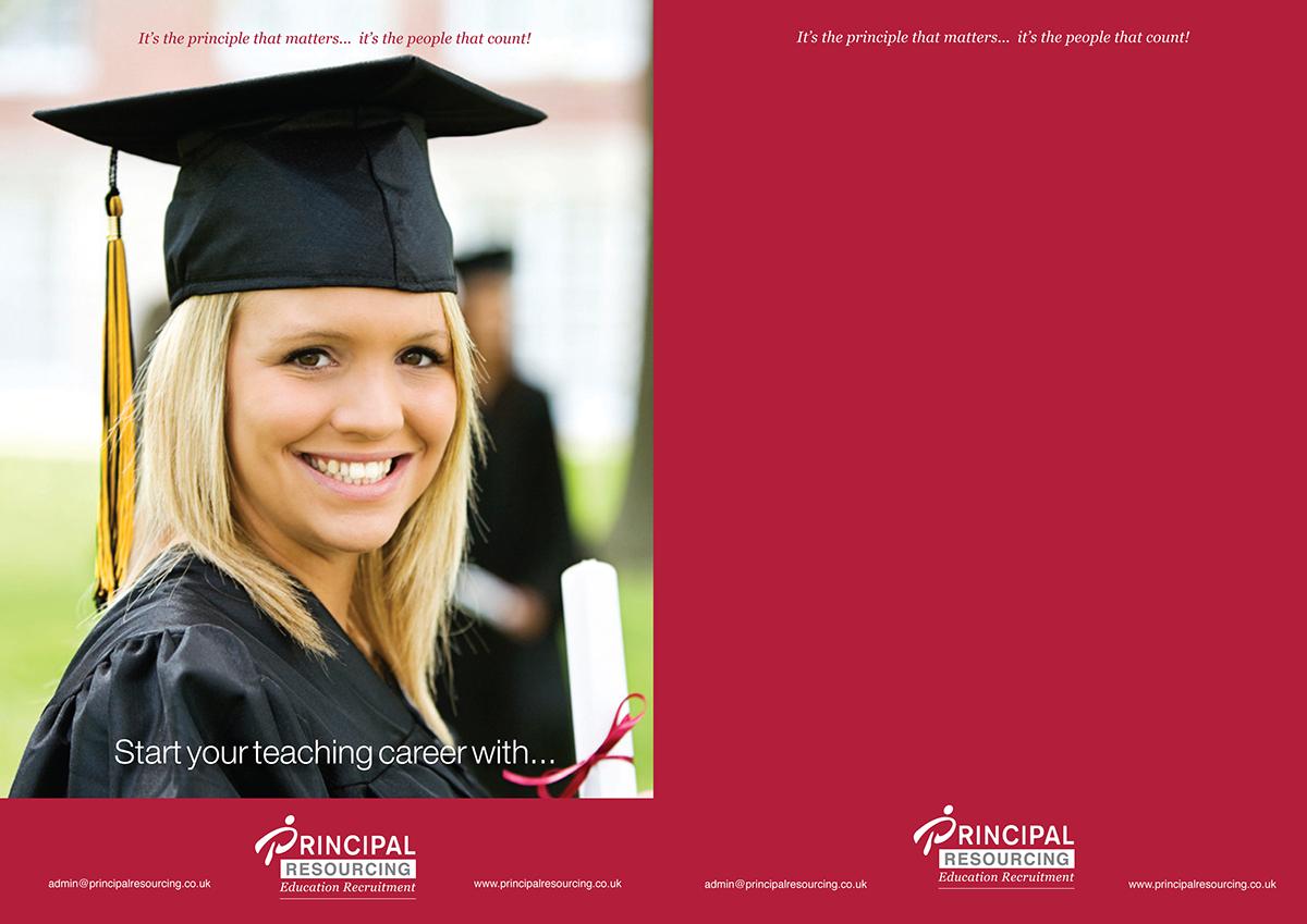 principal resourcing recruitment brochure design on behance