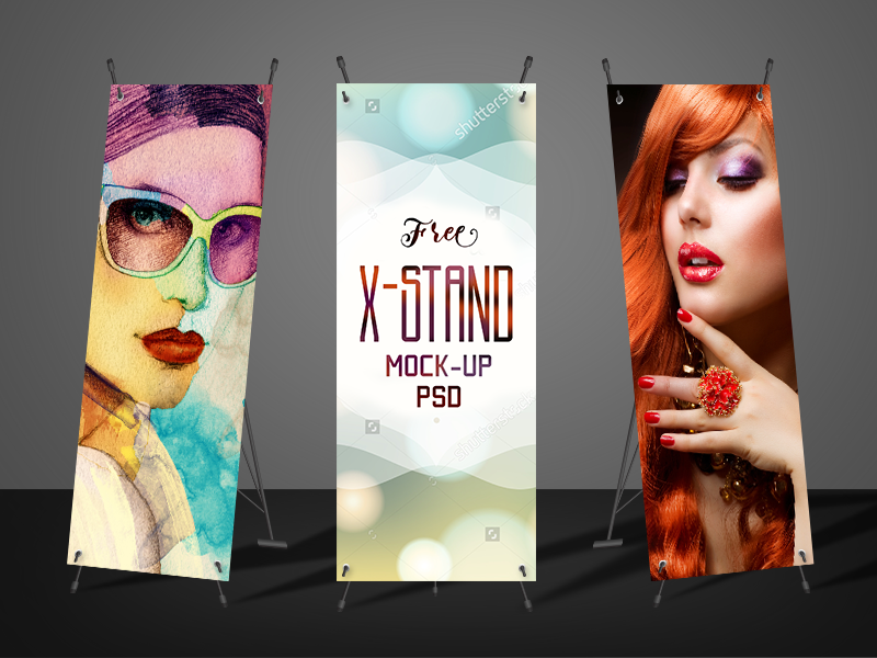 Free X-Stand Banner Mockup PSD on Behance