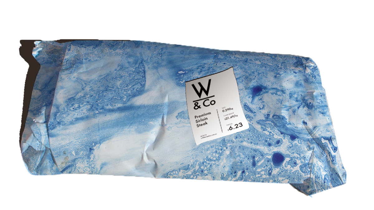 Marble effects blue brand butcher Ocean lifestyle