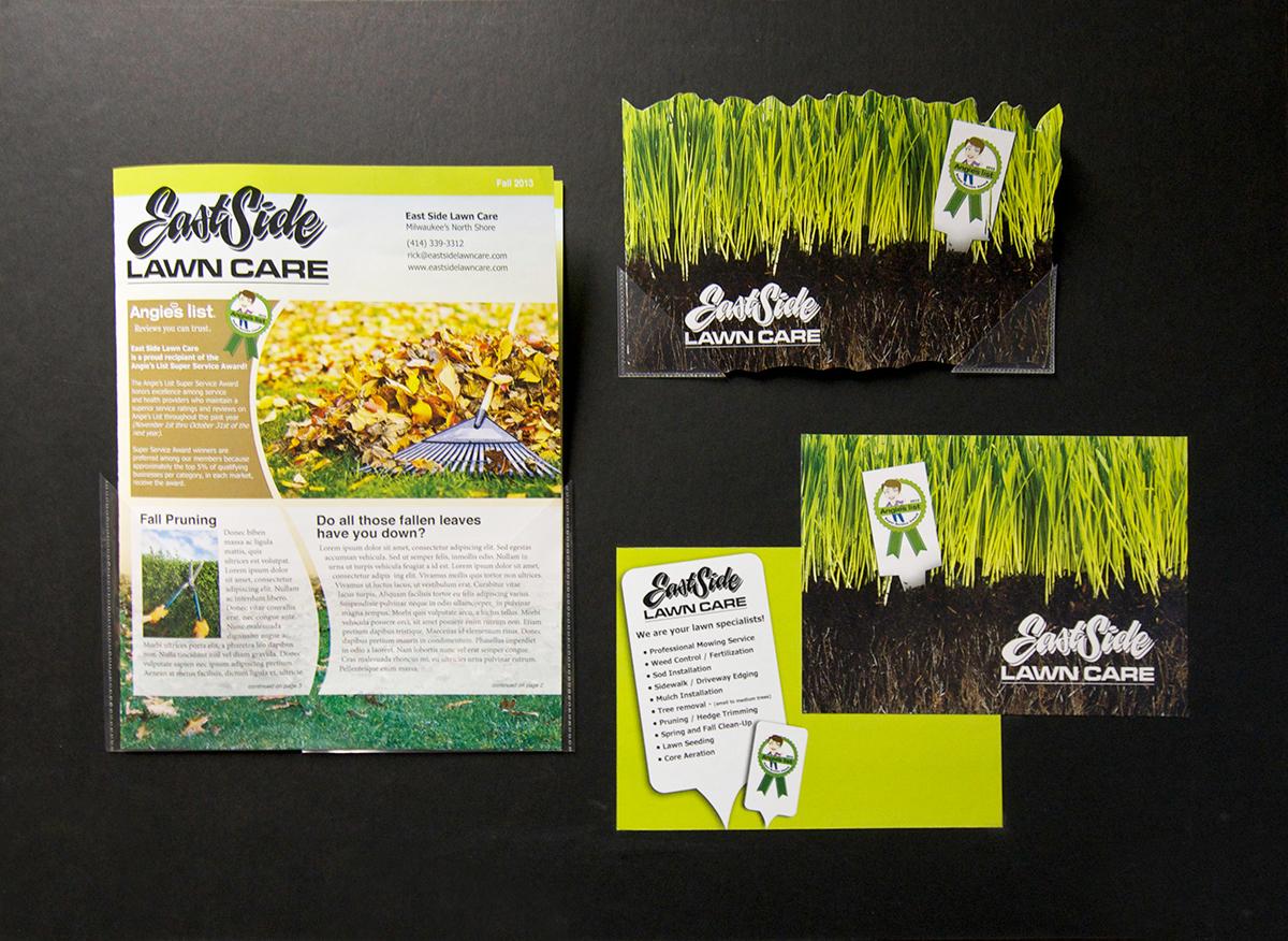 eastside lawn care on behance eastside lawn care brochure front back