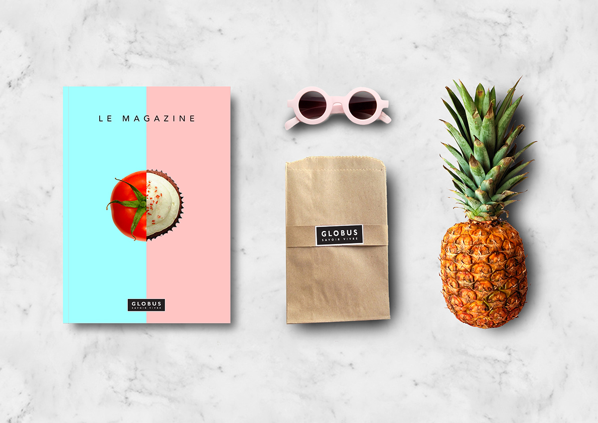 dariavuistiner Globus vegetables organic posters magazine pastel