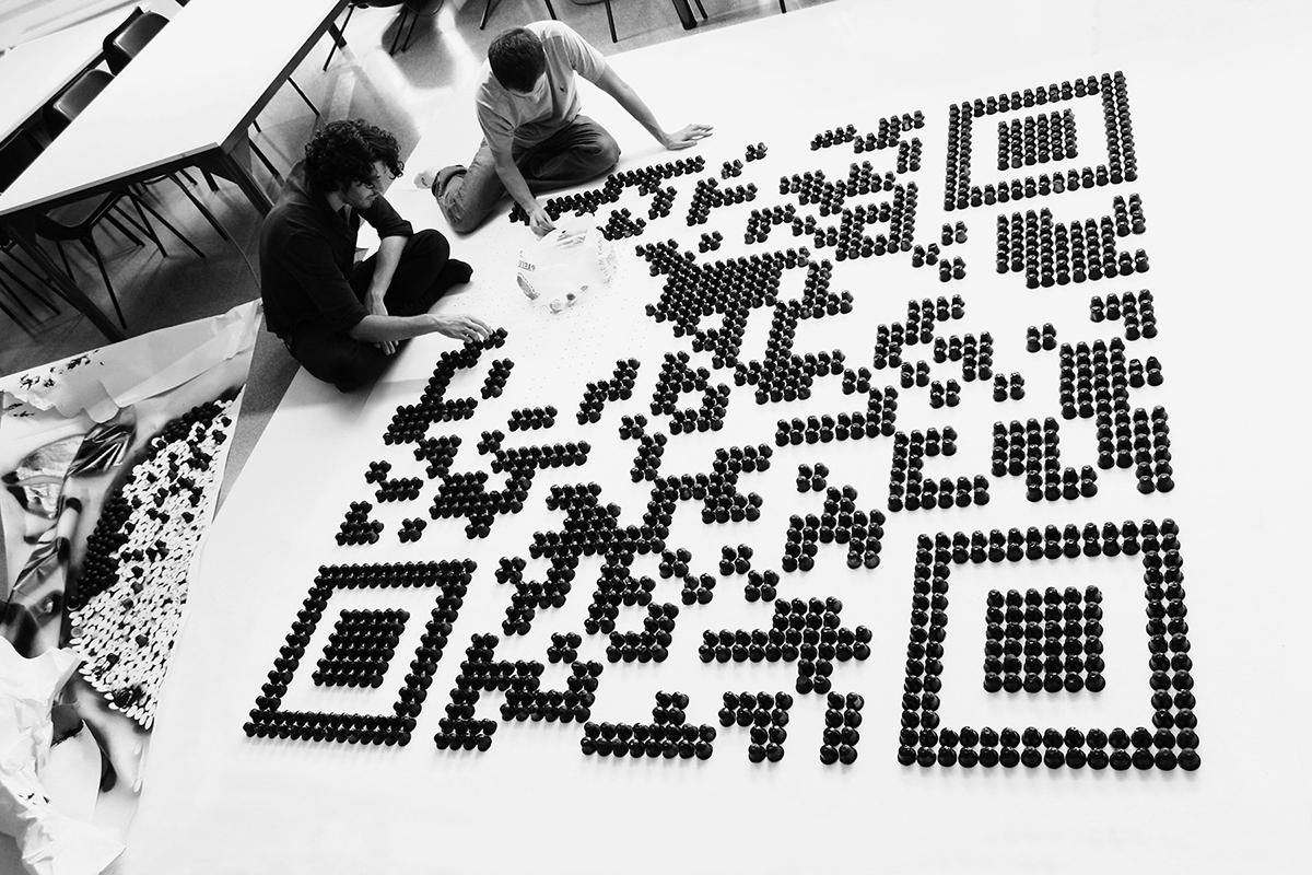 Nespresso code capsules qr poster interaction scan
