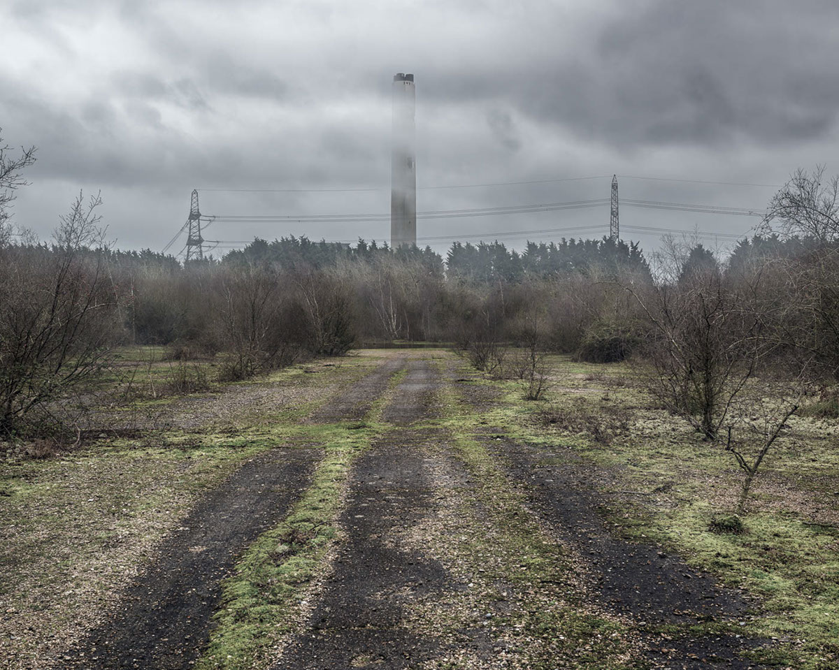 abandoned processed Fawley hampshire england power station Fossil Fuels disused apocalyptic climate energy Condemned Coast manipulated digital