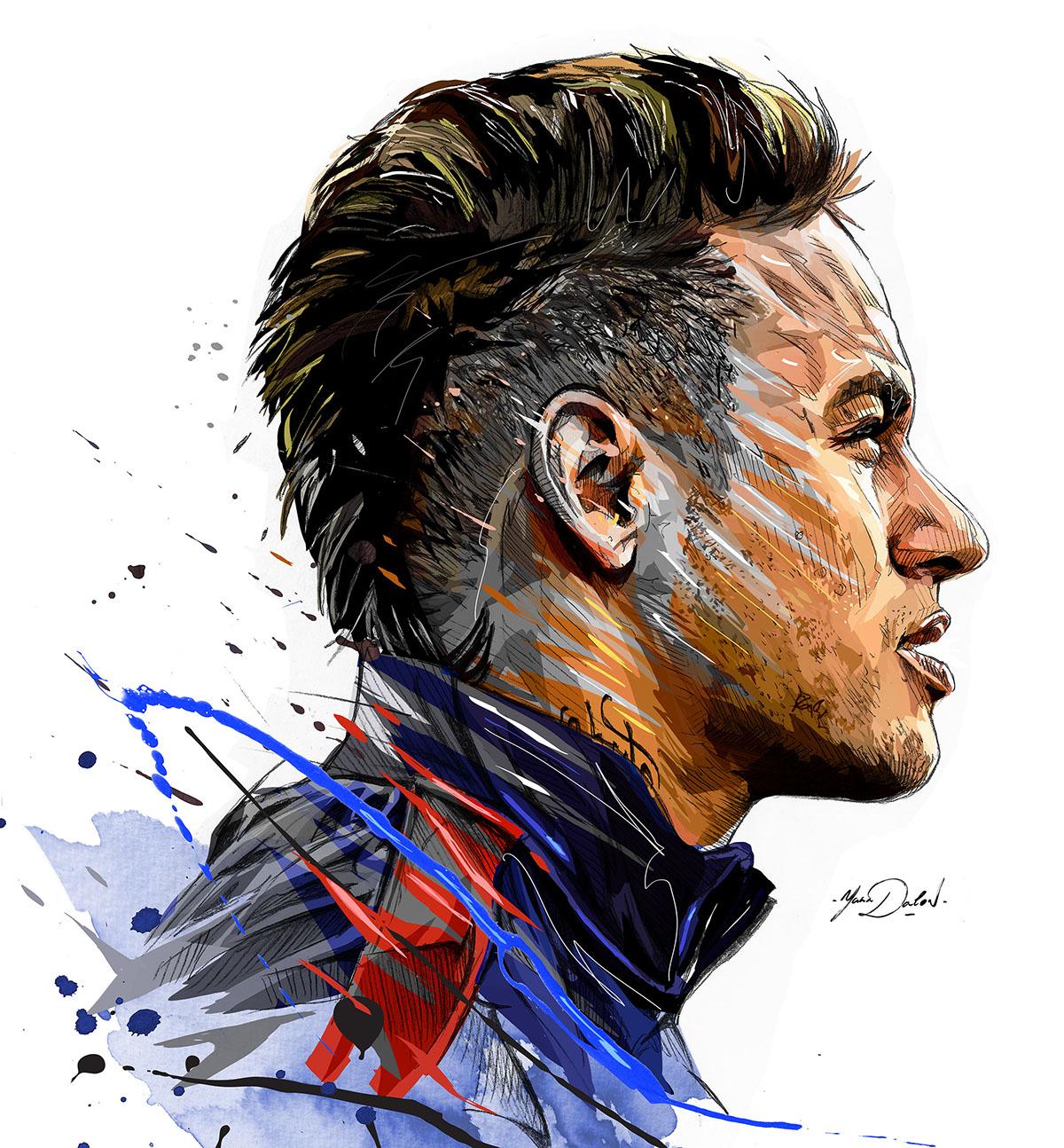 Neymar Jr On Pantone Canvas Gallery