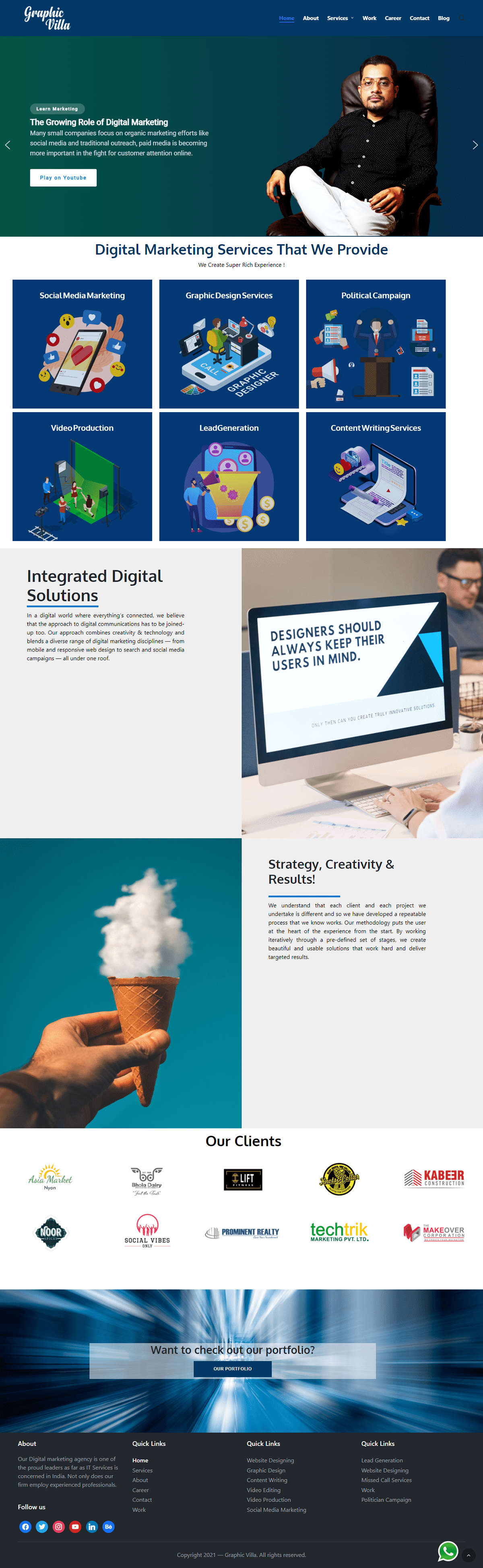 digital marketing Social Media Design Website Design