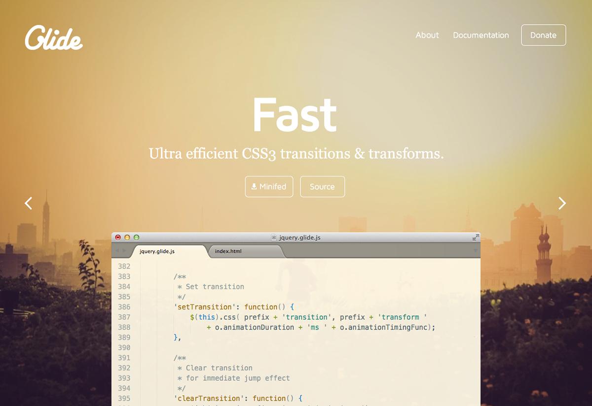 Glide js – Simple, lightweight & fast jQuery slider on Behance