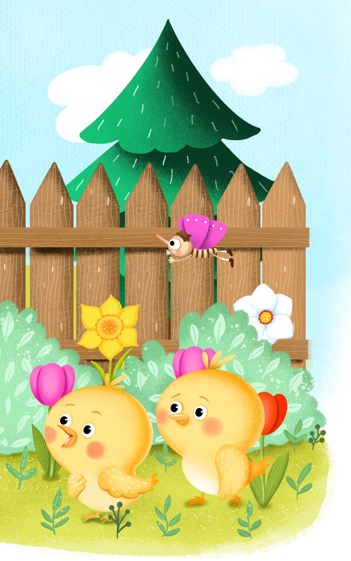Character design  characterdesign chicken children's book cute cuteanimals digital illustration farm