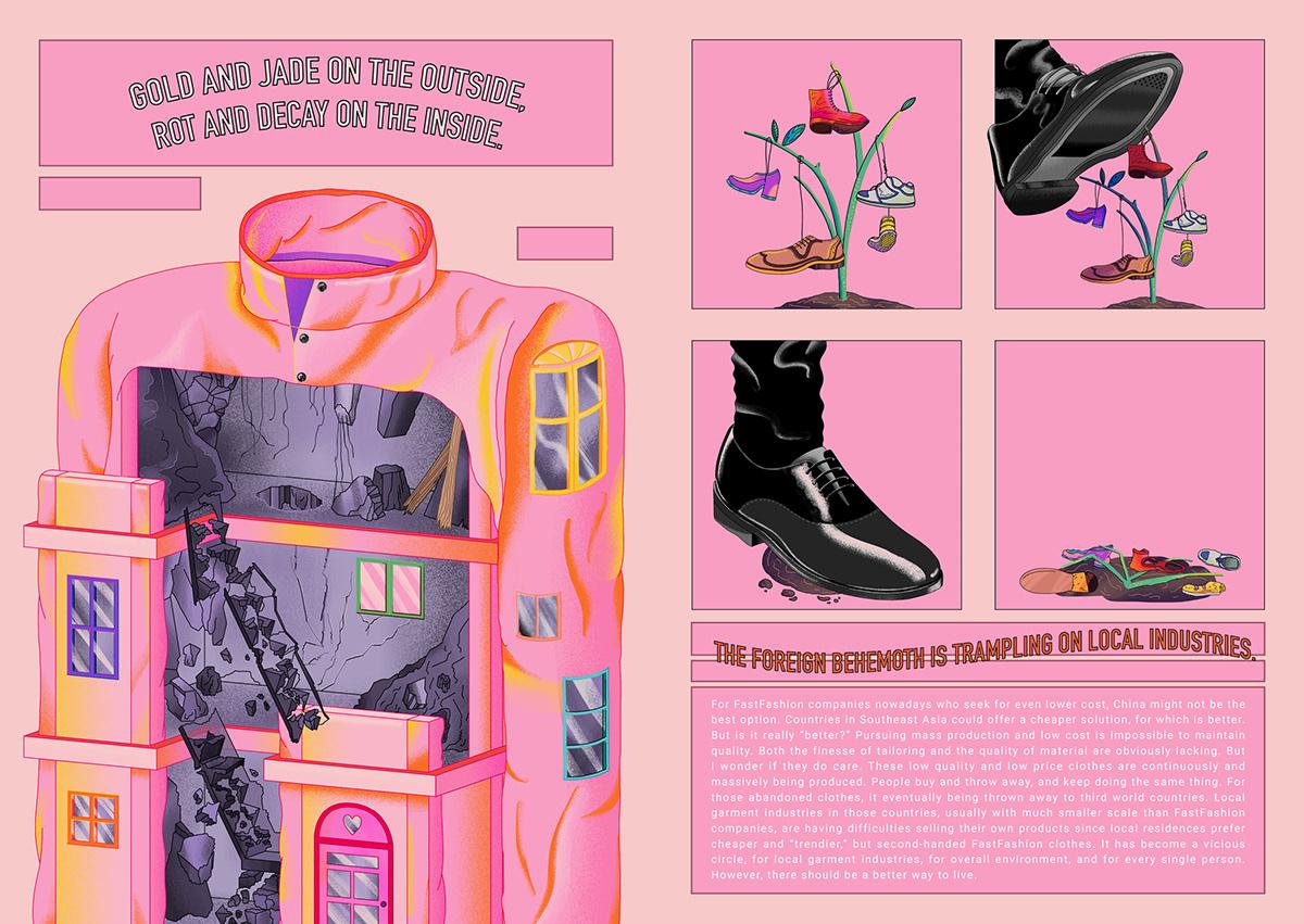 Zine  fastfashion clothes environment trendy sweatshop pollution 刊物 小誌