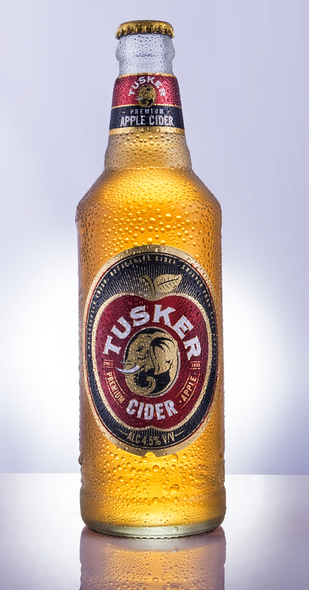 Tusker kenyan tusker cider cider apple product Product Photography retouching  branding  composition