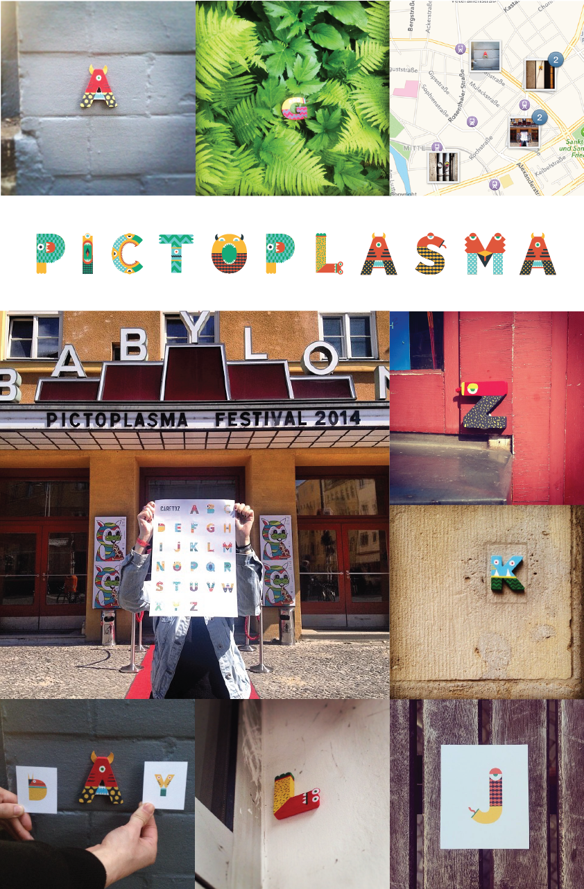 alphabet monsters mask Patterns gif motion pictoplasma type game cards Street letters iphone poster