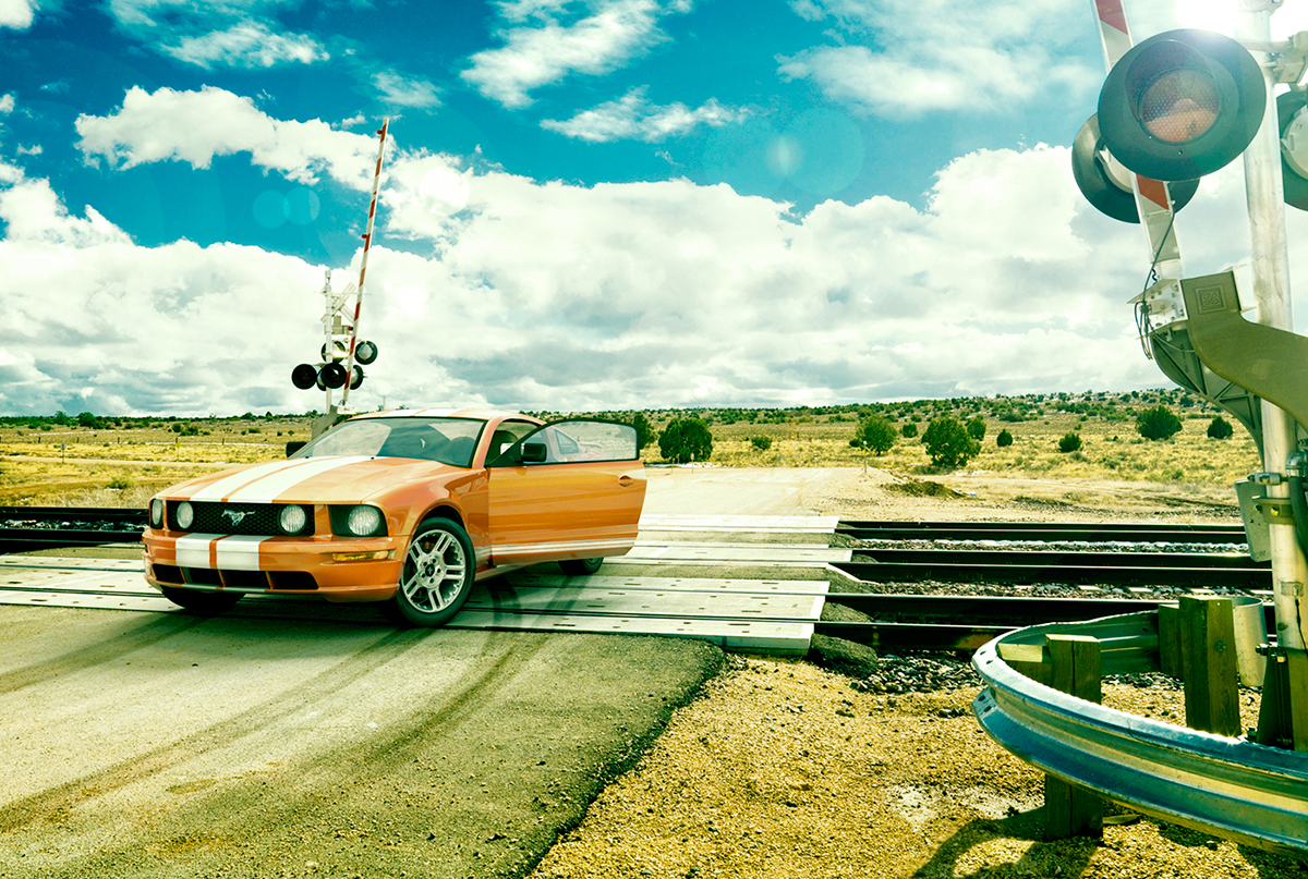 CGI 3D modelling Visualising Mustang muscle car automotive   grading