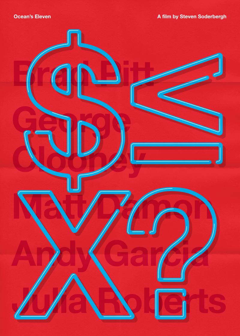 poster minimal typography   movie type lettering scarface kill bill Tarantino Film
