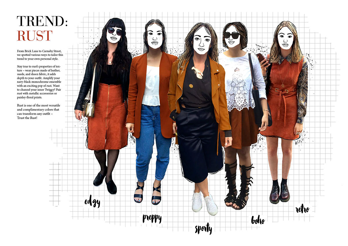 editorial Layout design trend forecasting trends street style Style Color Trend report