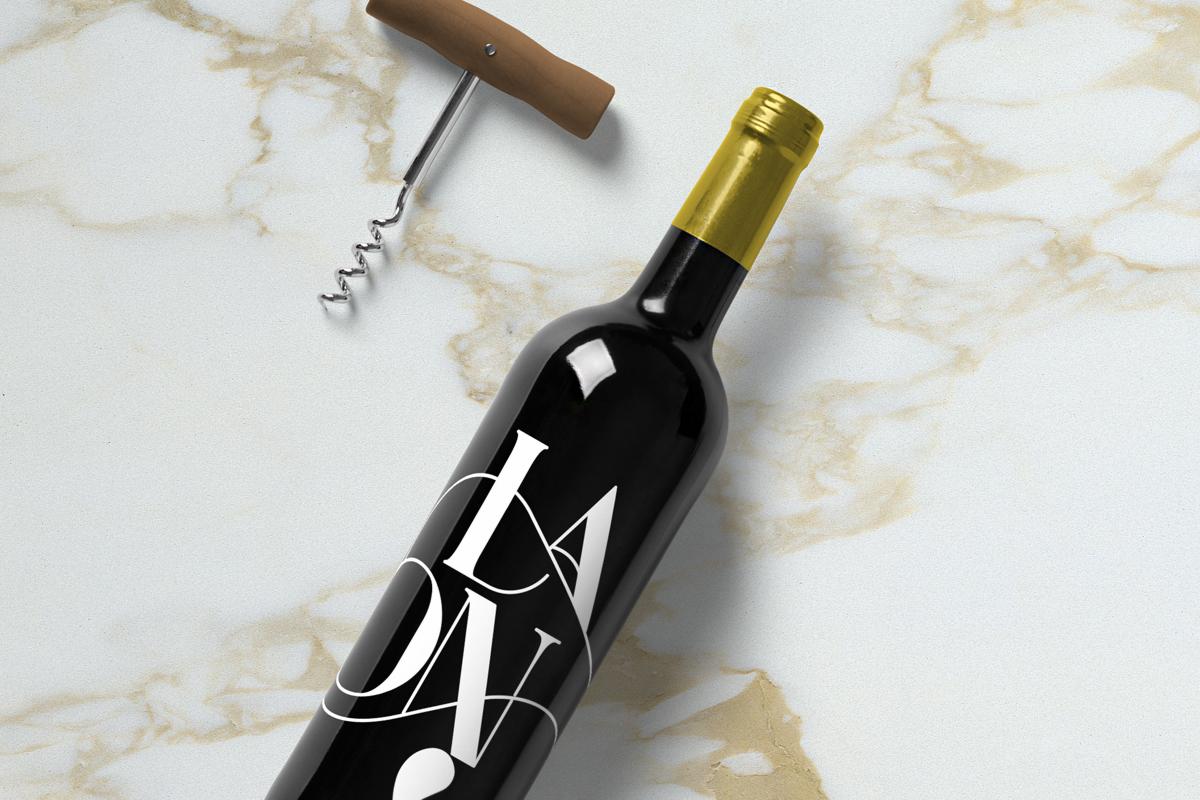 Free Wine Bottle Mockup On Behance