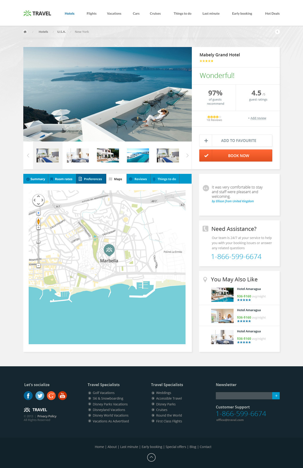 Travel Agency Responsive Hotel Online Booking