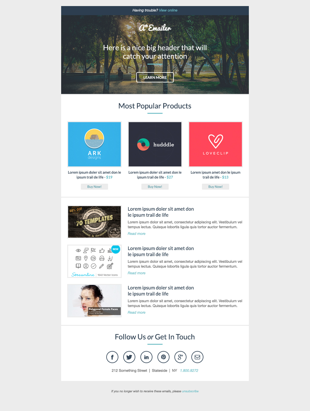 adam sanders a email template is a beautiful slick flat design responsive email template that can be used for anything from email newsletters to ecommerce email