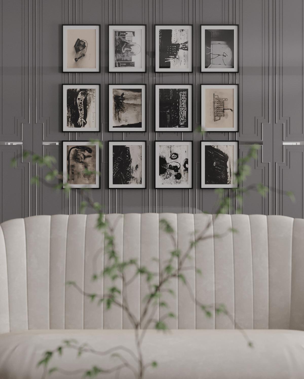 Image may contain: indoor, wall and sofa
