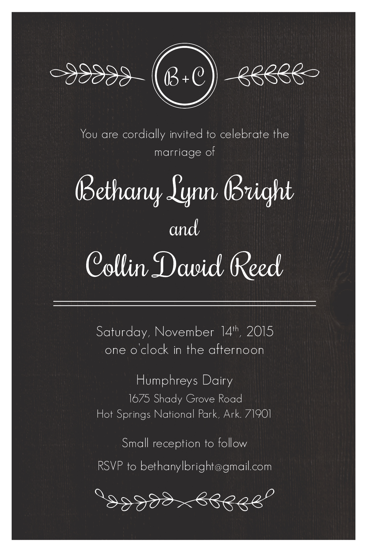 Bright reed wedding invitation suite on behance invite to send to friends of the groom and bride a gift registration card and i spy card to be used at the small reception following the ceremony to stopboris Images