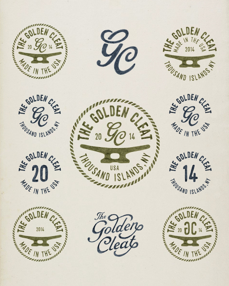 bmd design the golden cleat Thousand Islands logo watercolor