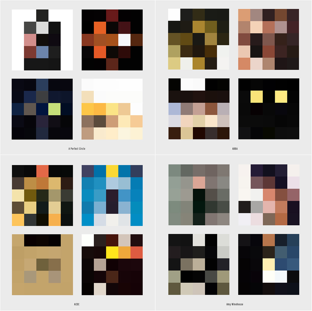 album covers Cover Art color themes abstraction Pixel art Minimalism music design