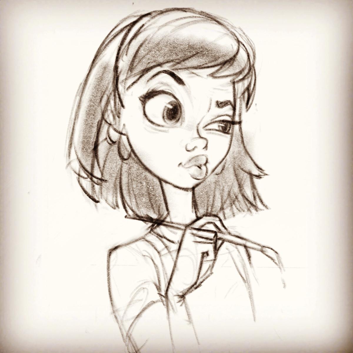 Random girl sketches on behance