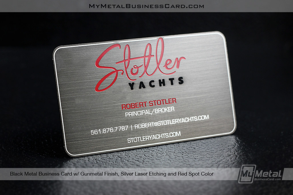 Black Metal Business Cards w/ Brushed Gun Metal Finish on Behance