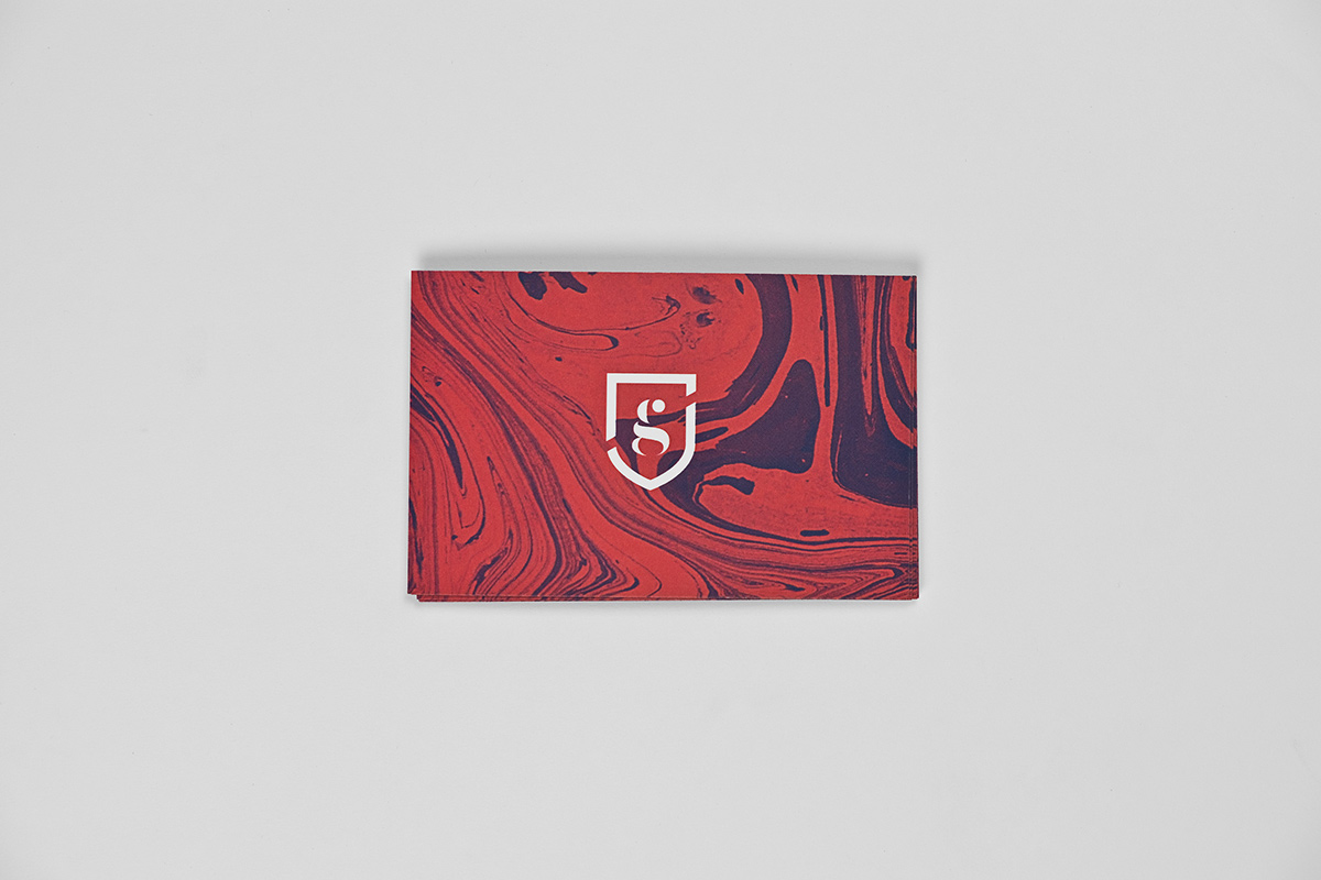 businesscards marbled ebru charly gusto british personalbrand shield pattern red blue Stationery mubien