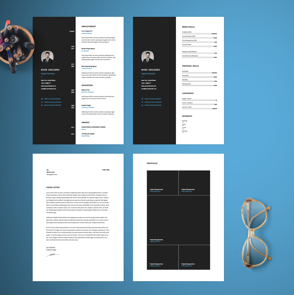 Best free resume templates on behance classy resume template pronofoot35fo Images