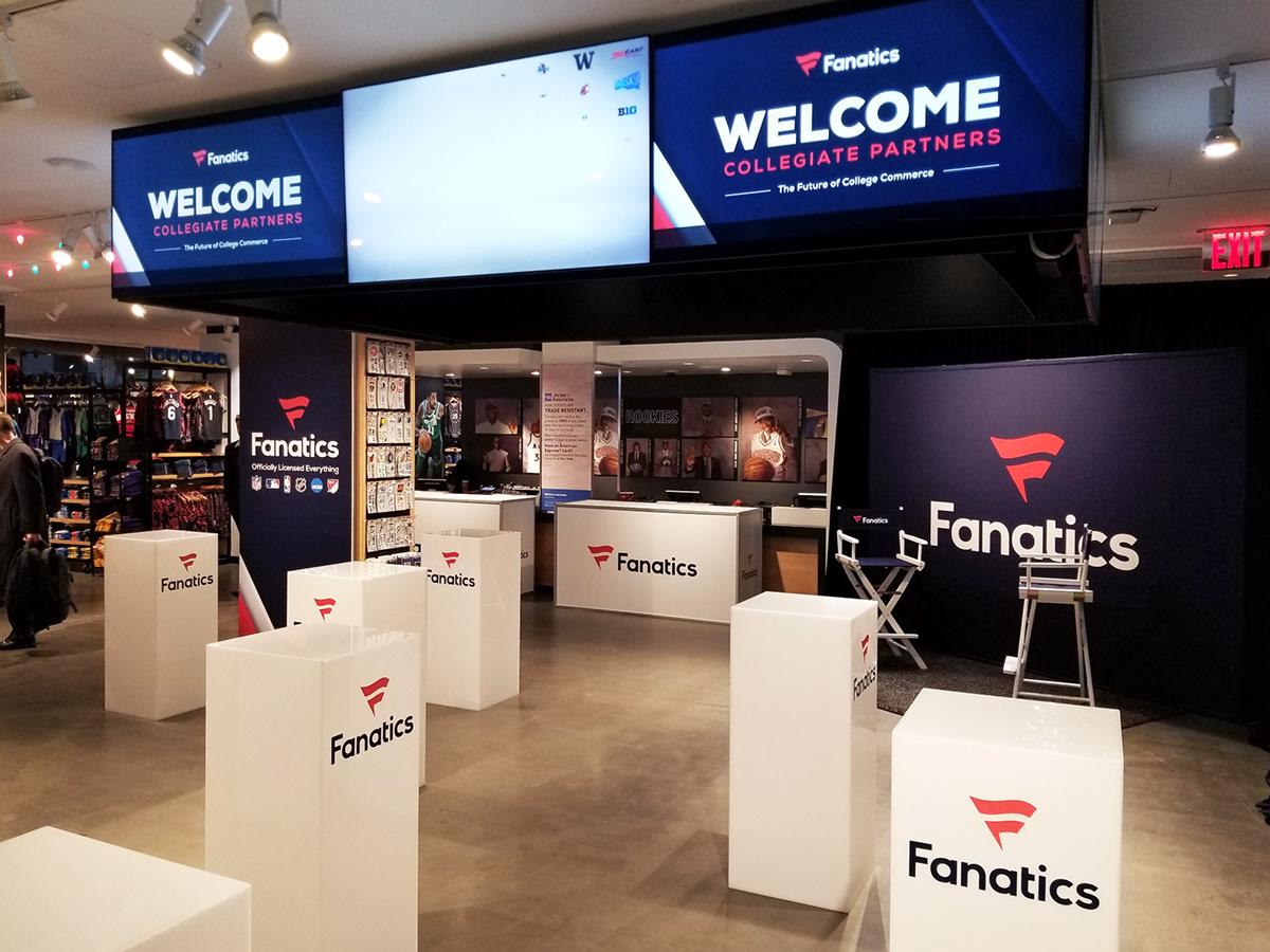 NBA Store Fanatics Pop-Up Shop on SCAD Portfolios