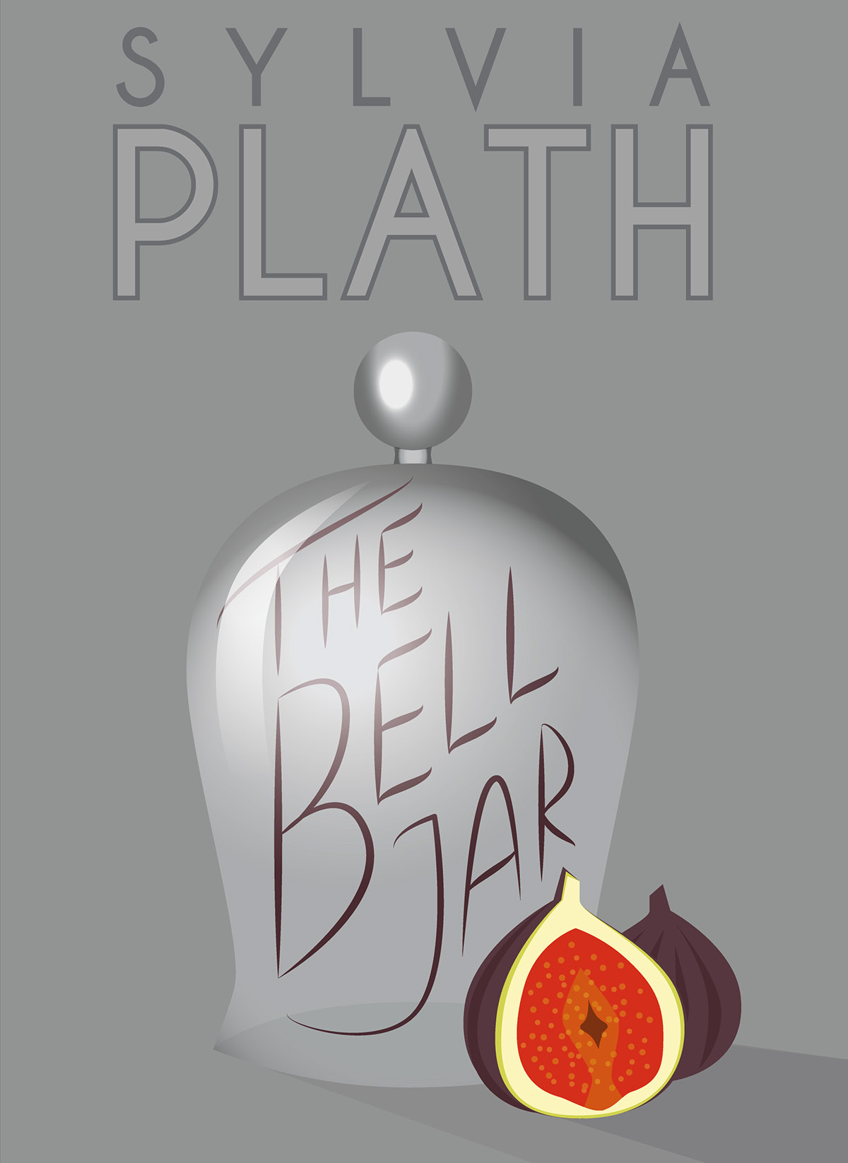 book cover the bell jar on behance