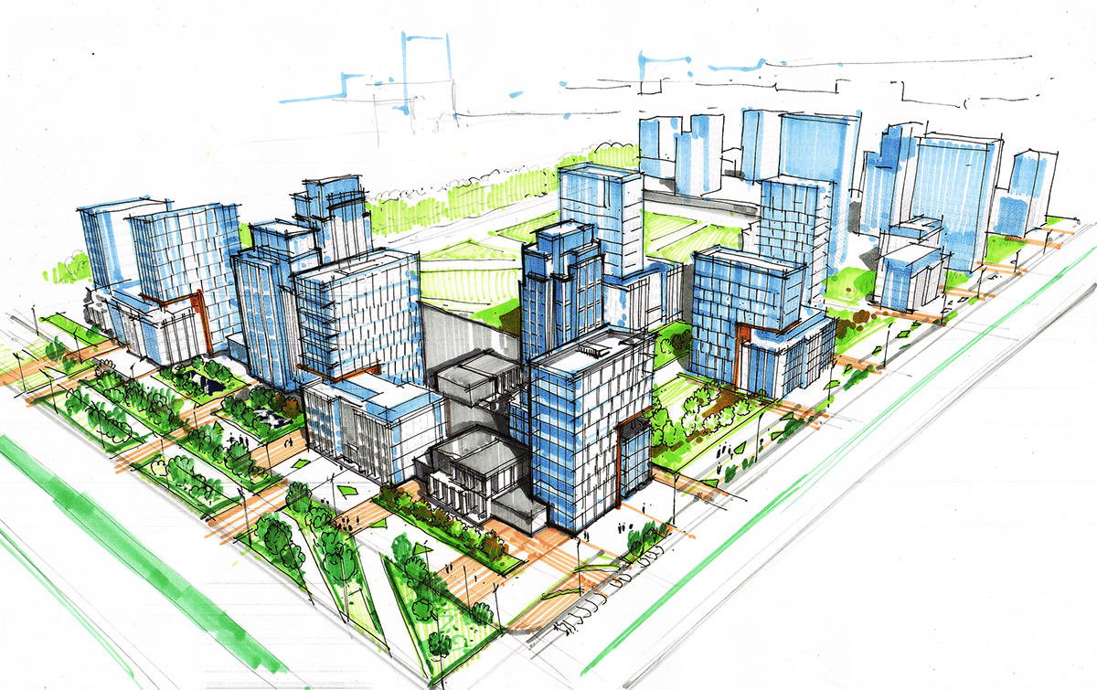 Urban planning concept development 1st stage on behance - What is urban planning and design ...