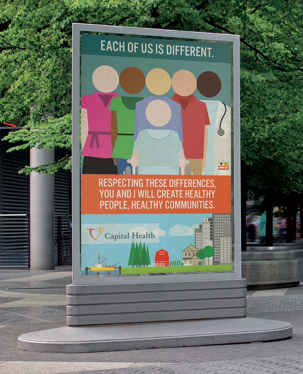 Poster design health - Respecting These Differences You And I Will Create Healthy People Healthy Communities Twenty Four Artists Responded And I Was Selected By A Judging