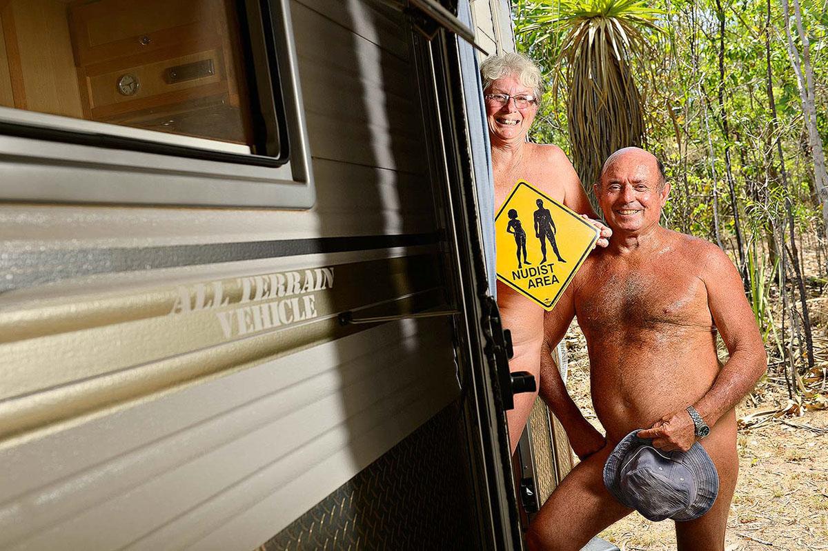 Bruce Jensen and Julie Jarvie at the Brujul Nudist Retreat in Noonamah