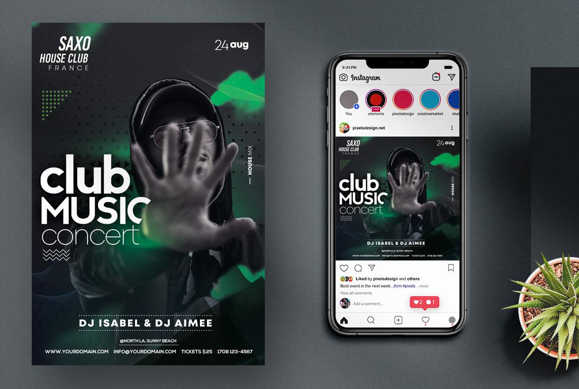 black flyer club flyer DJ Flyer Event flyer Flyer Design flyer template party flyers poster Poster Design