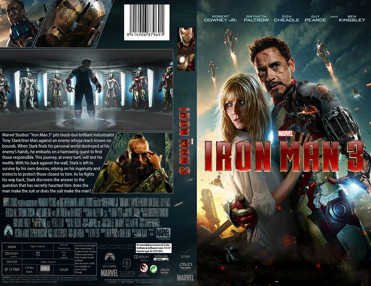 Iron Man 3 DVD cover art on Behance