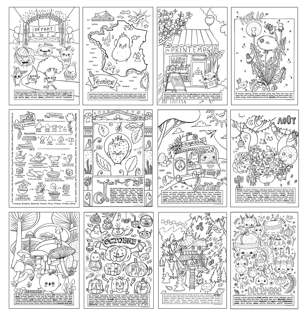 cahier de coloriage on behance. Black Bedroom Furniture Sets. Home Design Ideas
