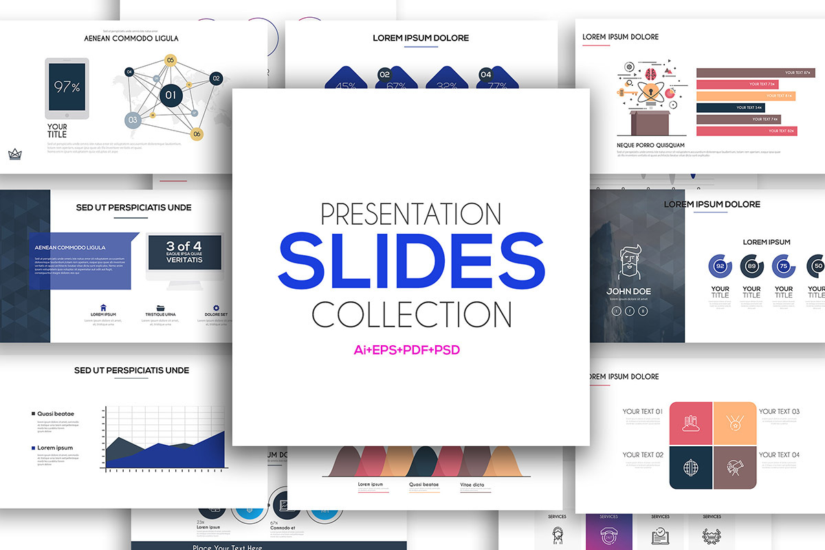 presentation slide templates and business brochures on behance