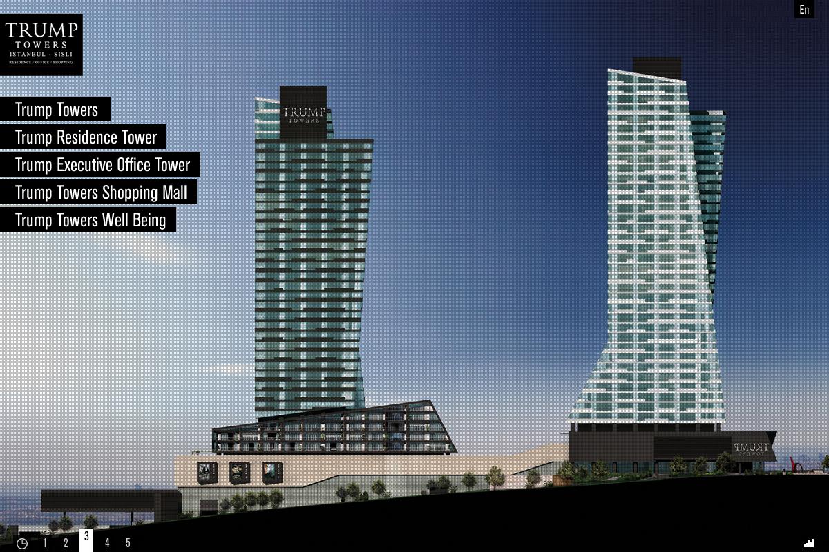 Trump towers istanbul corporate Website