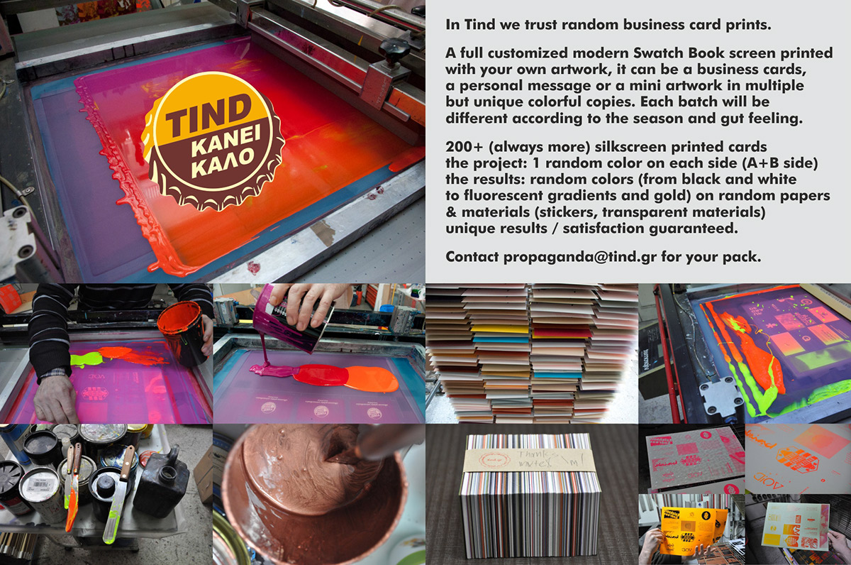 In tind we trust random business card print on behance alternativly contact us at propagandatind for a slot on the next batch we would be happy to print for you colourmoves