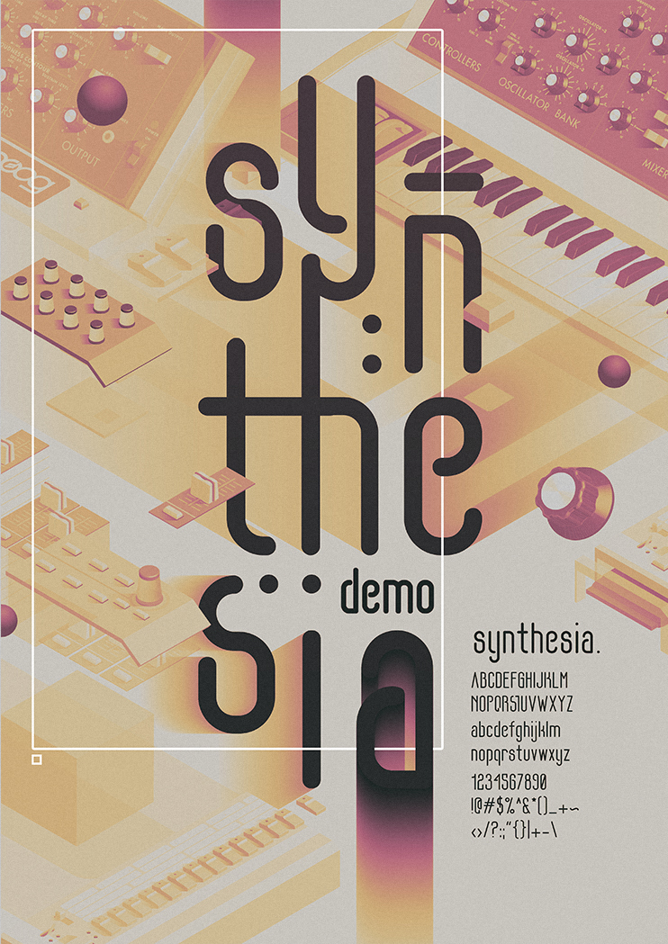 font,Synthesize,moog,minimoog,Straight,vintage,voyager,groove,snakehips,regular,SYNTH,synthesizer,indie,pop