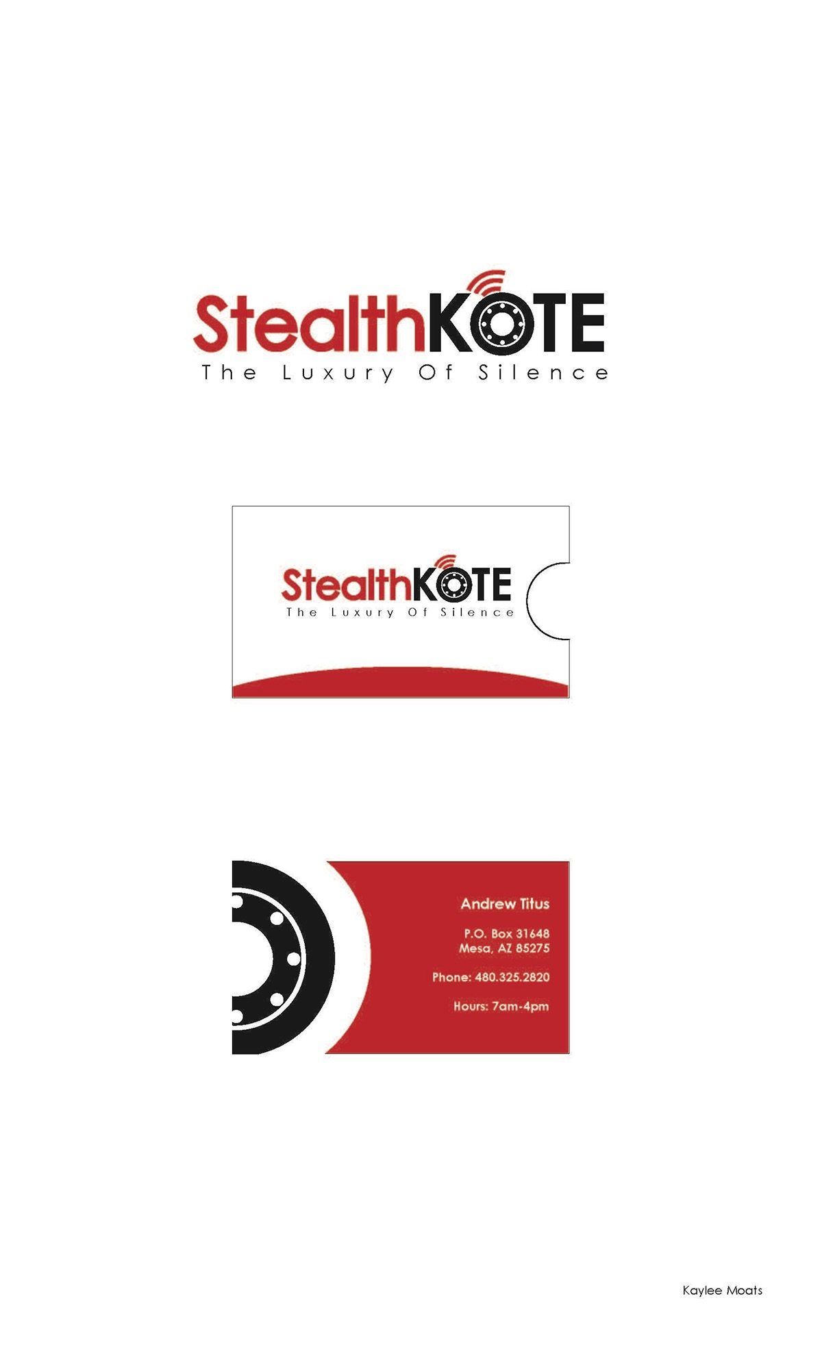 Stealth Kote Logo & Business Card Concepts on Behance