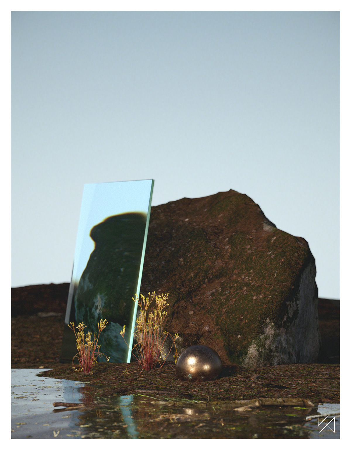 3D 3dart botanical CGI ILLUSTRATION  Nature Render still life substance surreal