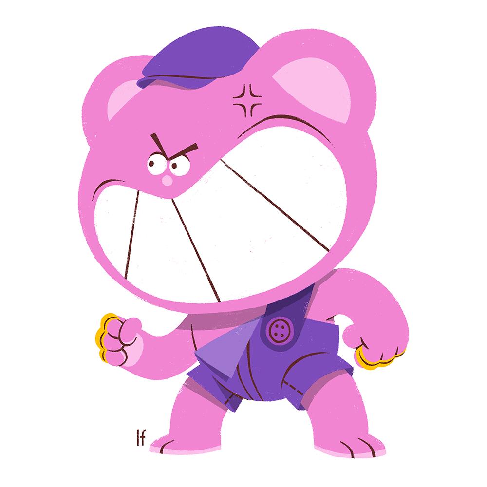 animation  bear cartoon Character characterdesign fluffy Knuckles Teddy THUG