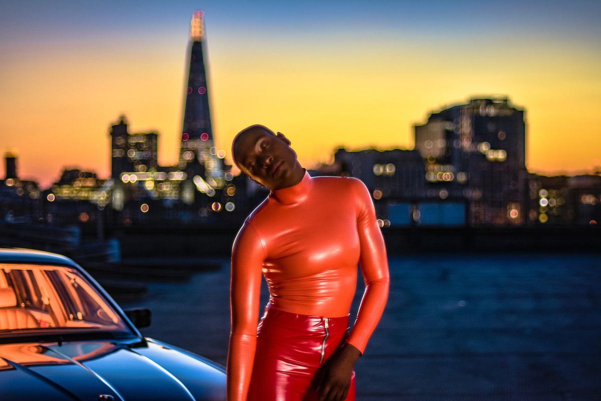 jaguar,car,shooting,rooftop,London,night,Photography
